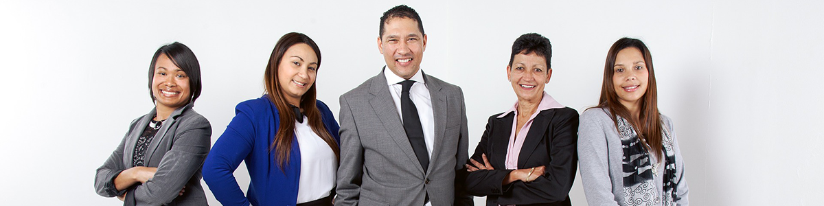 Group of interns in business attire