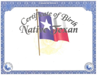 heirloom birth certificate (flag)