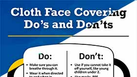 thumbnail of Face Coverings Do's and Don'ts - English