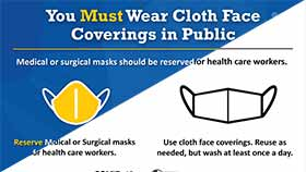 thumbnail of Wear Cloth Face Coverings Poster - English