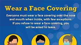 thumbnail of Face Coverings Required - English