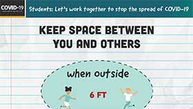 thumbnail of School Setting: Keep Space Between You and Others - English