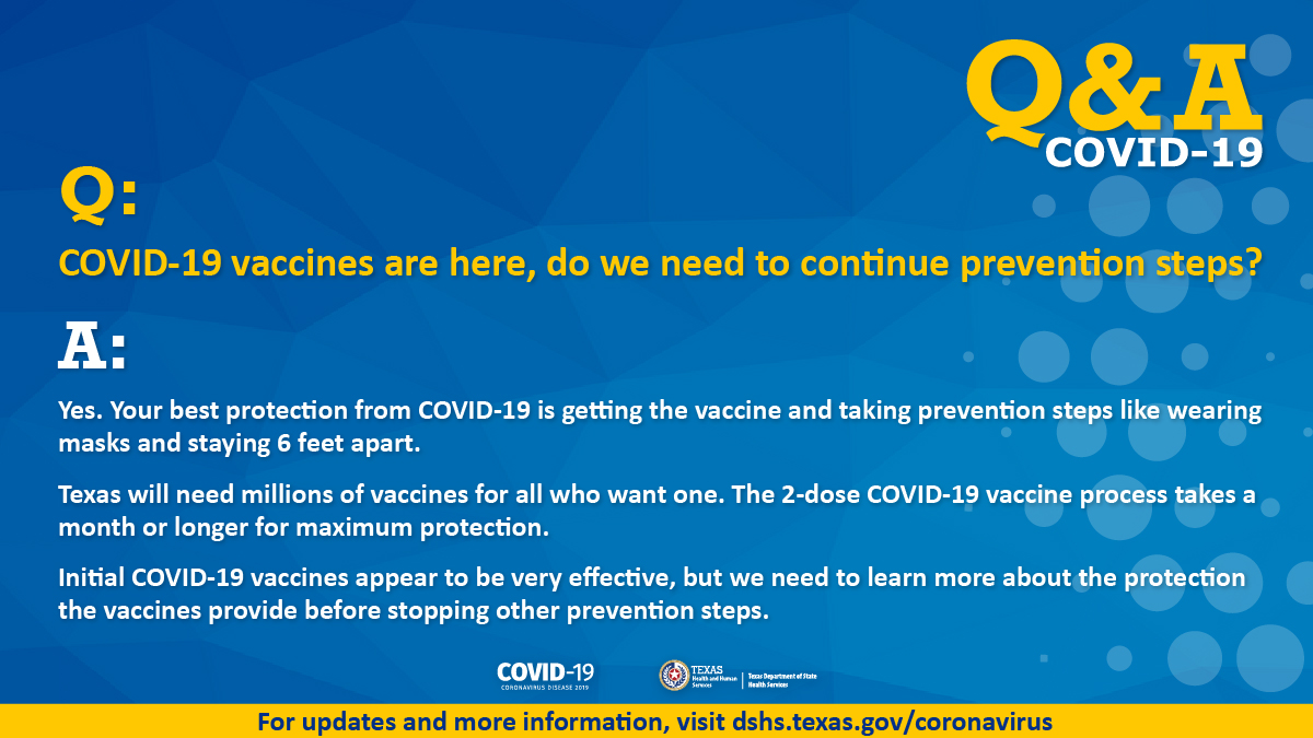 Keep up Prevention Steps as Vaccines Arrive - thumbnail