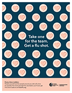 Take one for the team. Get a flu shot. Thumbnail (English)