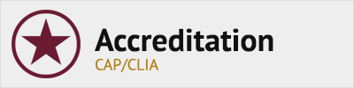 Accreditation - CAP/CLIA