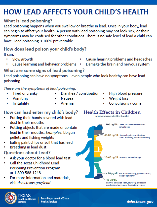 How Lead Affects Your Child's Health