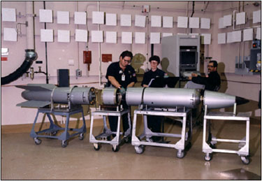 Pantex Technicians with Disassembled Bomb